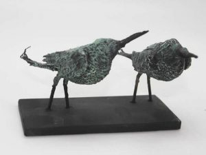 Sculpture of a Bee-eater Pair by James R. Pyne.