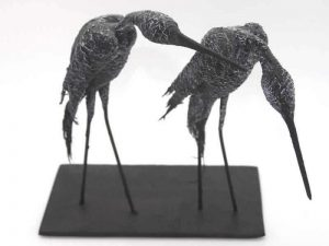 Sculpture of a Great Blue Heron Pair by James R. Pyne.