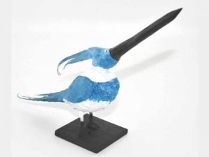 Sculpture of a Kingfisher by James R. Pyne.