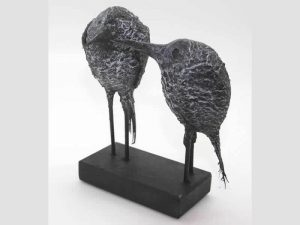 Sculpture of a Night Heron Pair by James R. Pyne.