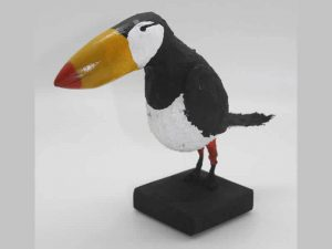 Sculpture of a Puffin by James R. Pyne.
