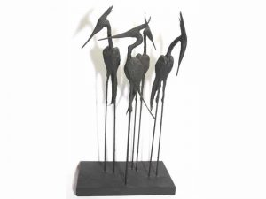 Sculpture of 4 Herons by James R. Pyne.